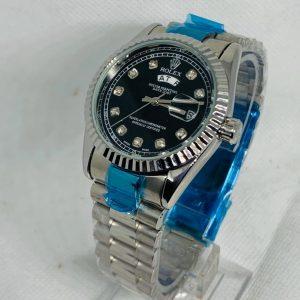 Montre Rolex Oyster perpetual Superlative Chronometer Gris et bleu cadran Noir