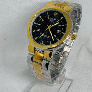 Montre Rolex Geneve Cellini Superlative Chronometer Gris et Or cadran Noir