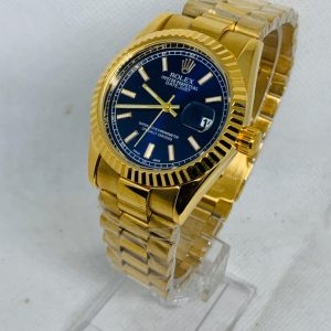 Montre Rolex Oyster perpetual Superlative Chronometer Or cadran Bleu