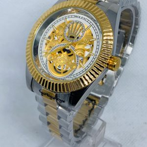 Montre Rolex   Argent et or cadran Or et blanc