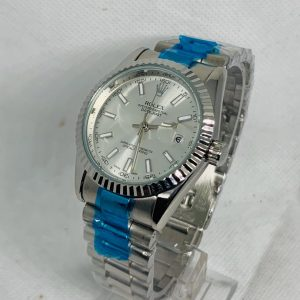 Montre Rolex Oyster perpetual Superlative Chronometer Gris et bleu cadran Argent