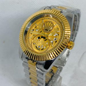 Montre Rolex   Gris et Or cadran Or