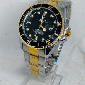 Montre Rolex Oyster perpetual Submariner Gris et Or cadran Noir