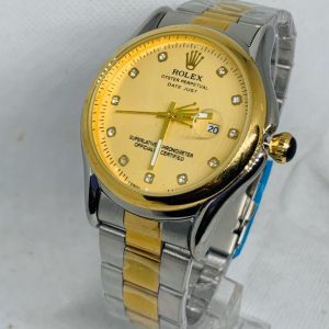 Montre Rolex Oyster perpetual Superlative Chronometer Gris et or cadran Or