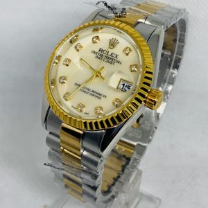 Montre Rolex Oyster perpetual Superlative Chronometer Gris et or cadran bŠge