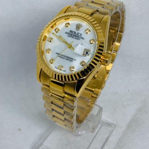 Montre Rolex Oyster perpetual Superlative Chronometer or cadran blanc